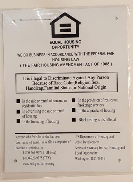 Equal Housing Opportunity Sign ( ALUMINIUM