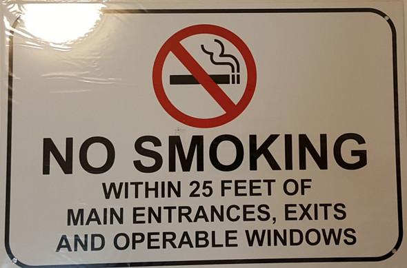 NO SMOKING WITHIN 25 FEET OF