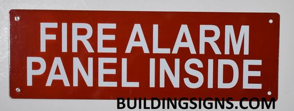 SIGNS FIRE Alarm Panel Inside Sign (Reflective