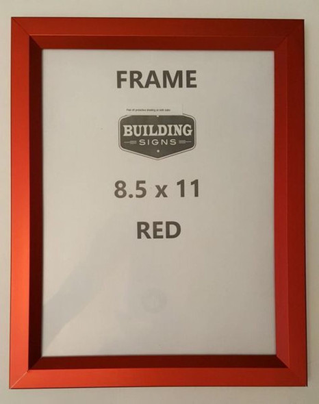 RED Elevator Inspection Certificate Frame 8.5x11