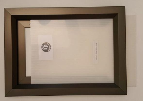 Elevator Inspection Frame Black 8.5x11 (Heavy