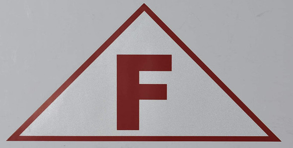 SIGNS State Truss Construction Sign-F Triangular (White,Sticker,12