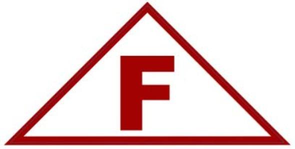 State Truss Construction Sign-F Triangular (White,Sticker,12