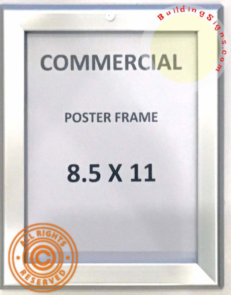 Elevator Poster Frame 8.5x11 (Silver, Heavy
