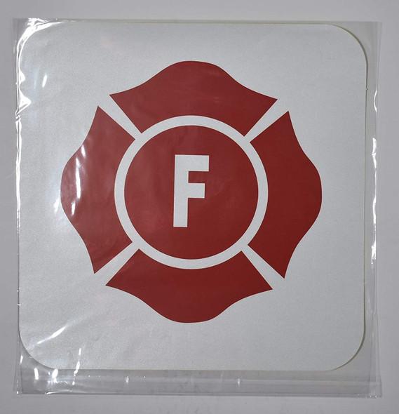Florida Truss Construction Sign-F (White,Reflective Sticker,12X12,