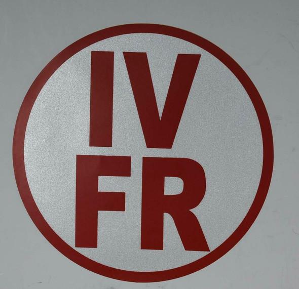 IV-FR Floor Truss Circular Sign (White,Reflective