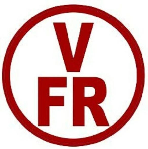 V-FR Floor Truss Circular Sign (White,Reflective