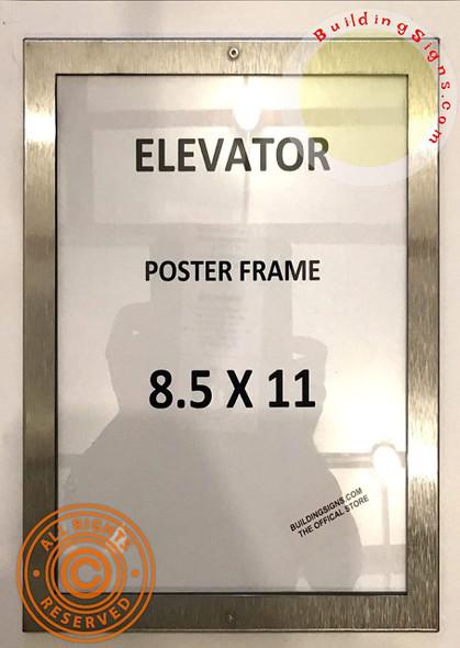 Elevator Notice Frame 8.5x11 (Lockable !!!,