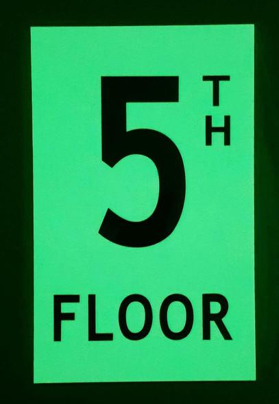 Floor number Five (5) Sign HEAVY