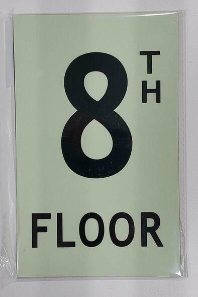 SIGNS Floor number Eight (8) Sign HEAVY