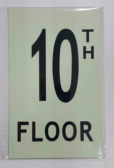 Floor number TEN (10) Sign HEAVY