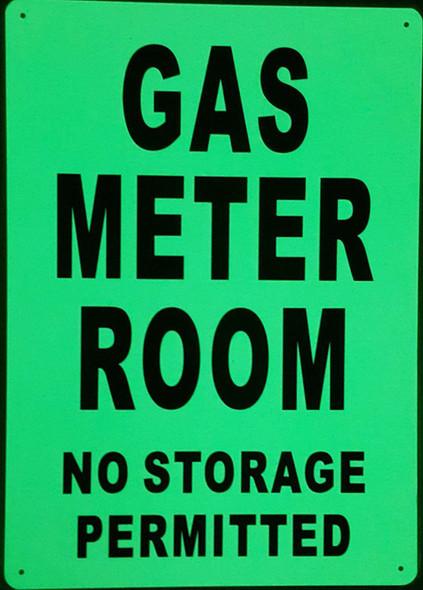 SIGNS GAS METER ROOM SIGN GLOW IN
