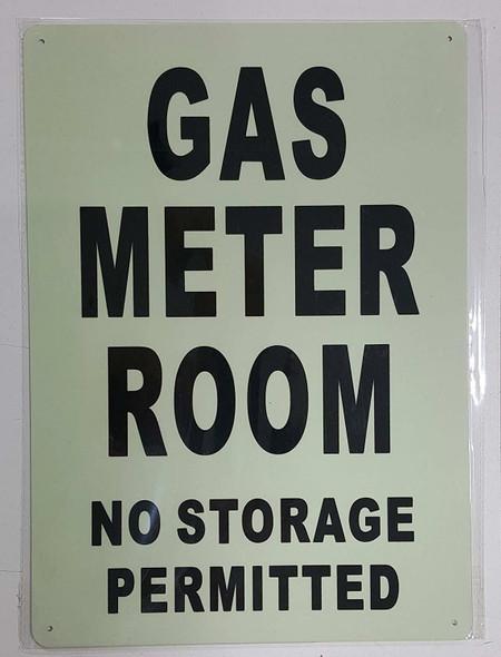 GAS METER ROOM SIGN GLOW IN