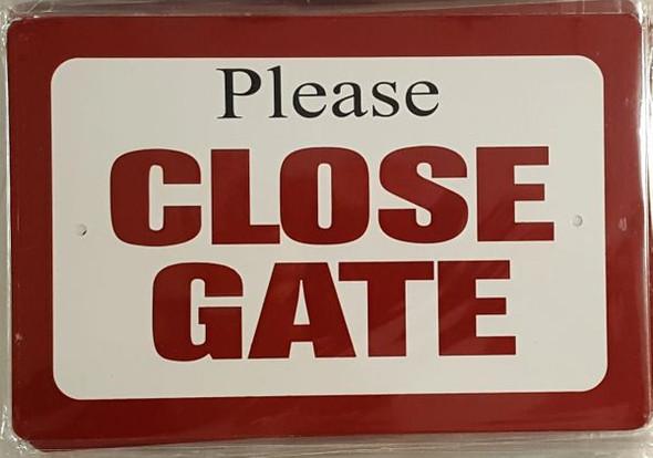 Please Close Gate sign (Aluminum Sign