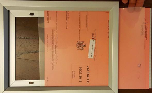 "Sales Tax Aluminium Frame 8.5"" X"