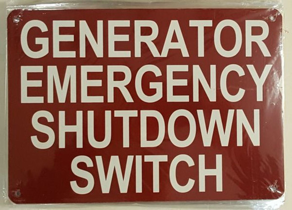 Automatic Sprinkler Connection Sign (RED, Aluminium