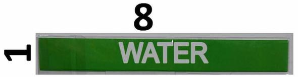 SIGNS Set of 5 PCS -Water Sticker