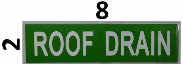 SIGNS Set of 5 PCS -ROOF Drain