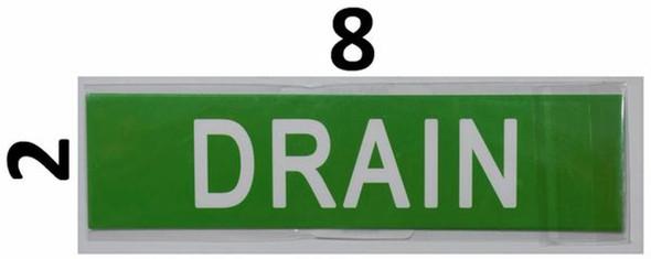 SIGNS Set of 5 PCS -Drain(Sticker, Green,