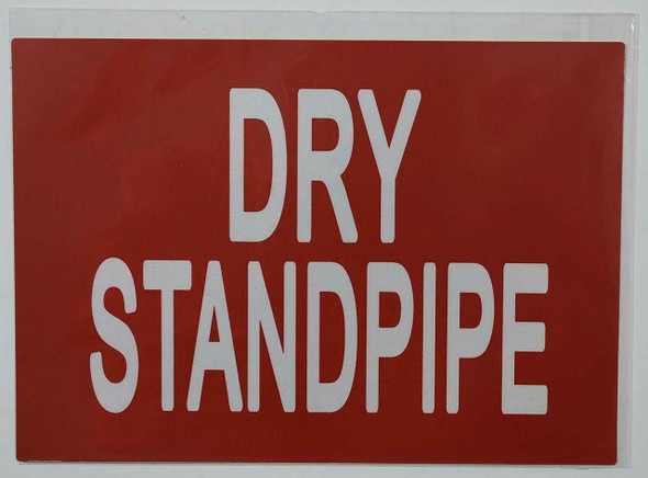SIGNS Dry Standpipe Sticker (Reflective,1 Unit, RED