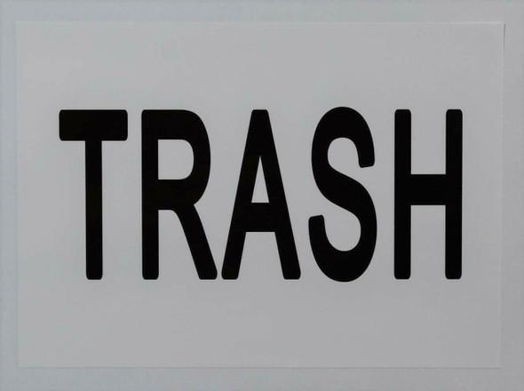 Trash Sticker (Sticker,White, 5X7)-(ref062020)