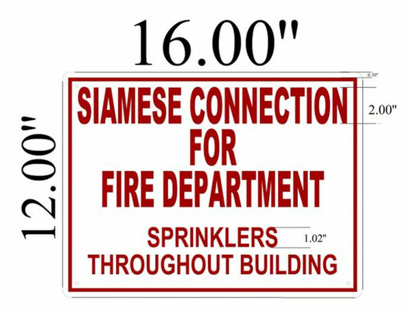 SIGNS Siamese Connection For Fire Department, Sprinklers