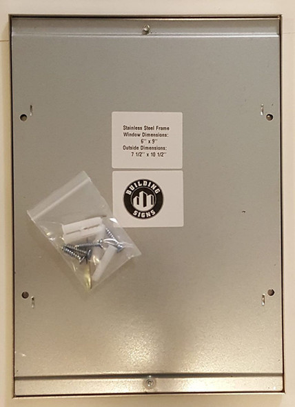 SIGNS Elevator certificate frame 6x9 stainless Steel-(ref062020)