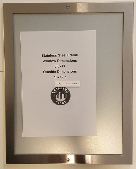 ELEVATOR PICTURE FRAME 8.5X11 stainless Steel-(ref062020)