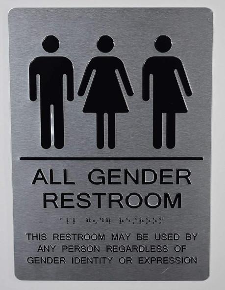 SIGNS All Gender Restroom Sign This Restroom