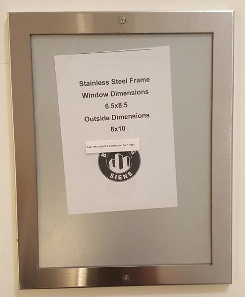 Elevator certificate frame 6.5x8.5 stainless Steel-(ref062020)