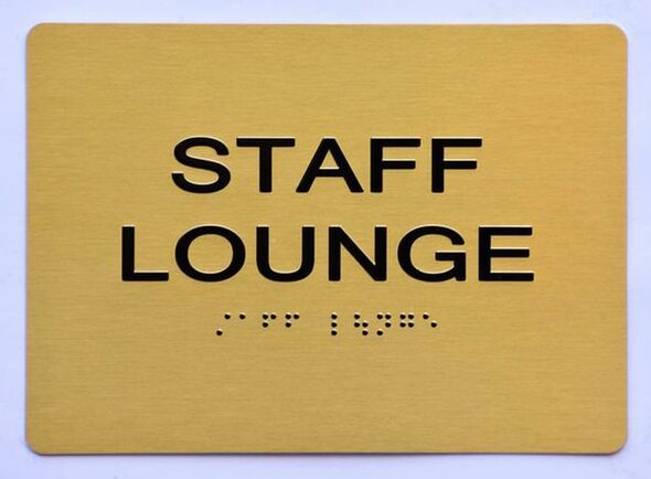 SIGNS STAFF LOUNGE Sign ADA-Tactile Signs GOLD