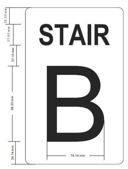 SIGNS STAIR B Sign GLOW IN THE