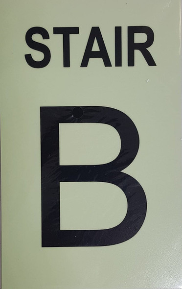 STAIR B Sign GLOW IN THE