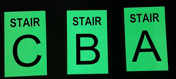 SIGNS STAIR C Sign GLOW IN THE