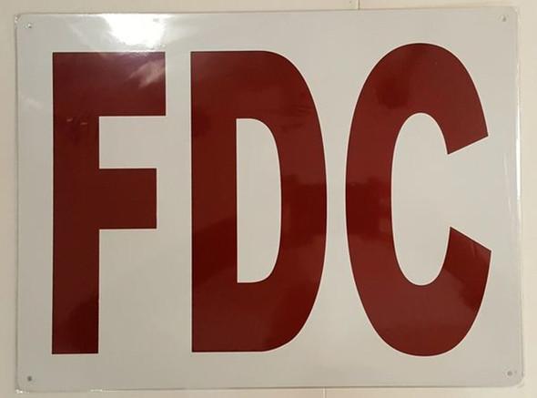 FDC SIGN ( ALUMINIUM 12X16)