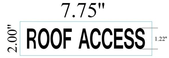 SIGNS ROOF ACCESS SIGN (WHITE ,ALUMINIUM 2