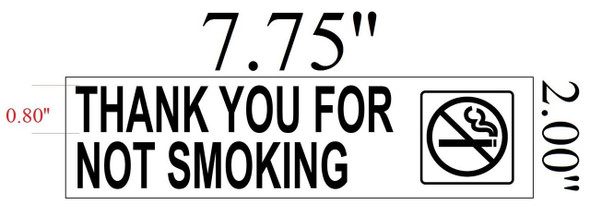 SIGNS THANK YOU FOR NOT SMOKING Sign-