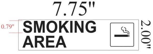 SIGNS SMOKING AREA SIGN (WHITE ,ALUMINIUM 2