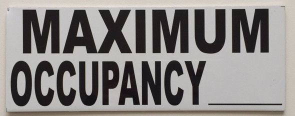 Maximum Occupancy Sign, 8 x 3
