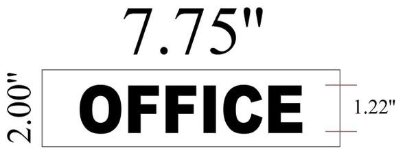 SIGNS OFFICE Sign White ( ALUMINIUM 2x7.75)-(ref062020)