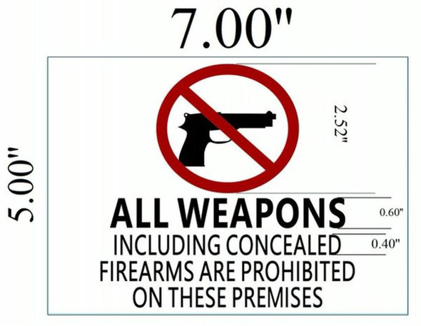 SIGNS Concealed Carry Sign -With two sided