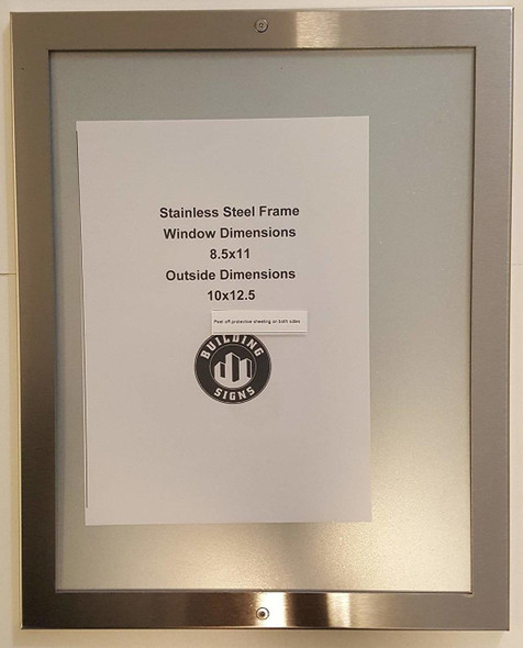 DIRECTORY FRAME 8.5X11 stainless Steel-(ref062020)