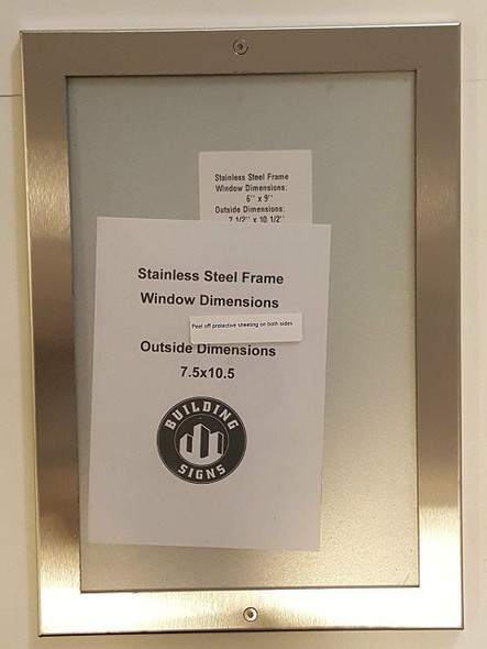 SIGNS Directory Frame 6x9 Stainless Steel-(ref062020)
