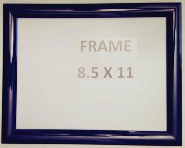 Dark Blue Snap Poster Frame/ Picture