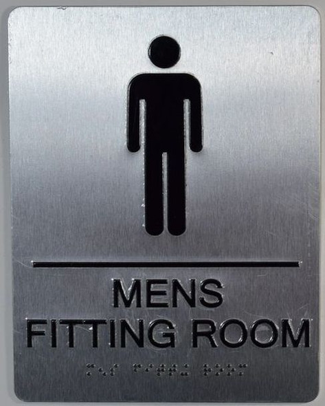 Men's Restroom Sign with Tactile Text