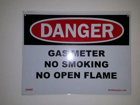SIGNS DANGER Gas Meter No smoking no