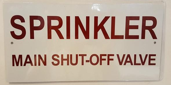 Sprinkler Main Shut-Off Valve Sign (Aluminum