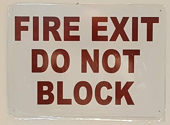 SIGNS FIRE EXIT DO NOT BLOCK SIGN