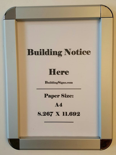 Hallway/Lobby Notice Frame A4- Chrome !!!