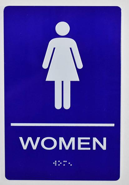 SIGNS Woman Restroom Sign -Tactile Signs (Aluminium,